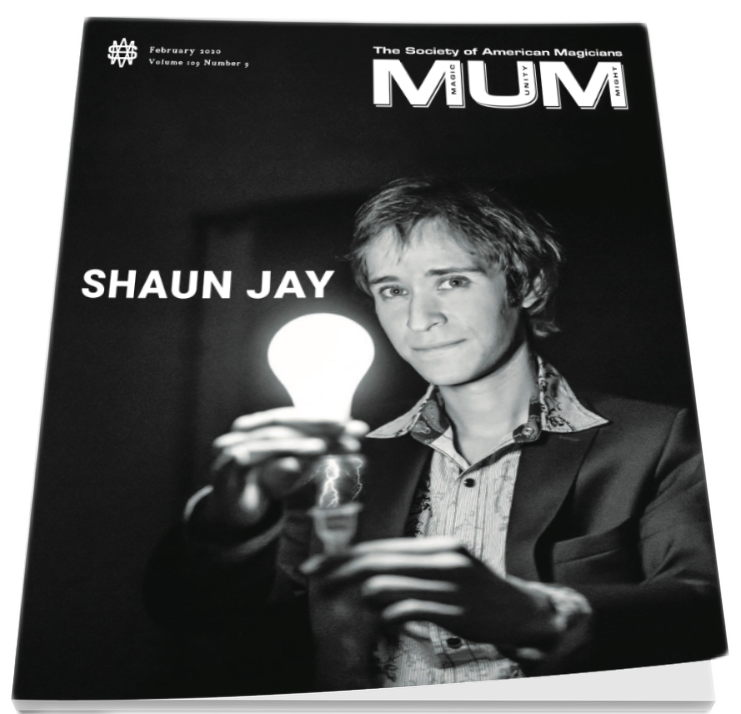 Shaun Jay MUM Magazine Cover Society of American Magicians